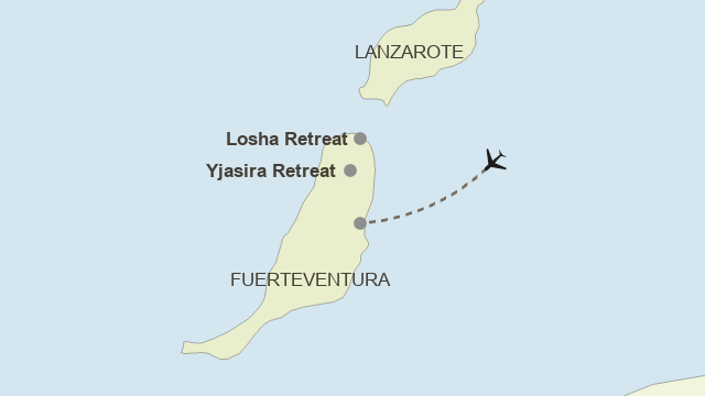 Karte: Fuerteventura - Yoga & Pilates im Surya Retreat